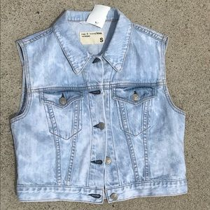 Rag n Bone Button up denim vest